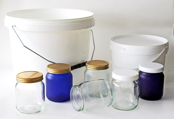 Coloured Honey Jars